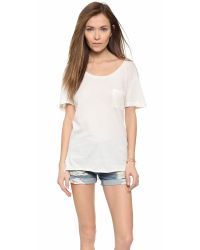 Wildfox | Natural Essential Pocket Tee | Lyst