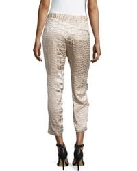 Haute Hippie - Natural Animal-print Textured Pants - Lyst