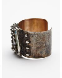 Free People | Gray Stone Triplet Cuff | Lyst