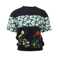 Stella McCartney | Black Floral Sweatshirt | Lyst
