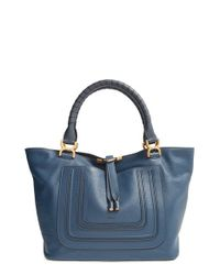 Chloé | Blue 'marcie - New' Leather Tote | Lyst