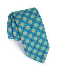 Ted Baker - Blue Geometric Wool Tie for Men - Lyst