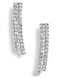 Nadri - Metallic Curve Small Linear Earrings - Lyst