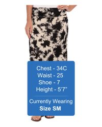 Kensie - Black Tie Dye Skirt - Lyst