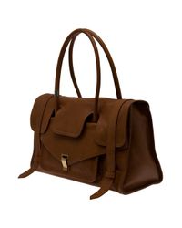 Proenza Schouler | Brown Leather Carry All Bag | Lyst