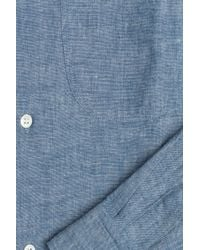 A.P.C. - Cotton Button-down - Blue for Men - Lyst
