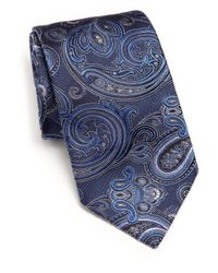 Ike Behar | Blue Medallion Paisley Silk Tie for Men | Lyst