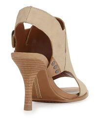 Luxury Rebel - Natural Cameron Leather Glove Slingback Oyster 8 - Lyst