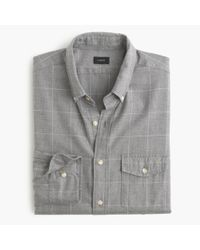J.Crew | Gray Slim Brushed Twill Shirt In Windowpane for Men | Lyst