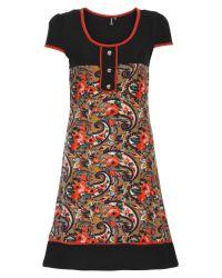 Izabel London | Orange Paisley Print Tunic Dress | Lyst