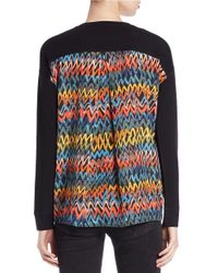Kensie - Black Knit Shirt - Lyst