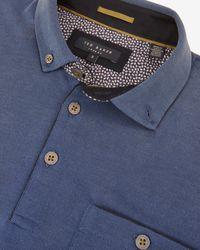 Ted Baker | Blue Contrast Trim Polo Shirt for Men | Lyst