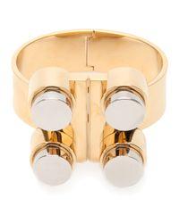Chloé - Metallic Four Studded Bracelet - Lyst