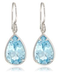 Dinny Hall - White Gold Blue Topaz Imy Anniversary Earrings - Lyst