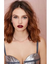 Nasty Gal | Metallic Drop The Ball Collar Necklace | Lyst