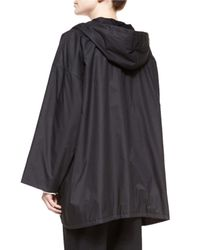Eskandar - Black Hooded Button Raincoat - Lyst