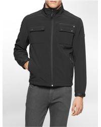 Calvin Klein - Black White Label Lightweight Zip Front Jacket - Lyst