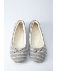 Forever 21 - Gray Stripe Slippers - Lyst