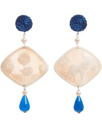 Anna E Alex | Natural Elephant Safari Deco Shell Earrings | Lyst