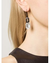 Rebecca | Metallic 'Elizabeth' Drop Earrings | Lyst