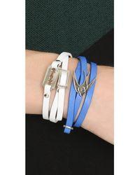 McQ | Mini Razor Blade Bracelet - White | Lyst