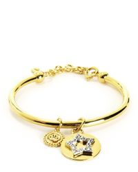 Juicy Couture | Metallic Pave Star And Coin Bangle | Lyst