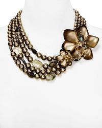 Alexis Bittar | Gray Crystal Lace Lucite Flower Torsade Necklace 22 | Lyst