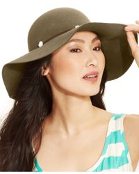 Nine West | Brown Pale Felt Floppy Hat | Lyst