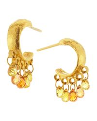 Gurhan - Metallic Sapphirebriolette Hoop Earrings - Lyst