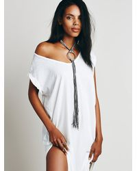 Free People | Gray Buju Womens Canyon Fringe Pendant | Lyst