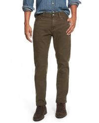 Jean Shop | Green Slim Fit Selvedge Twill Five-pocket Pants for Men | Lyst