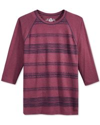 American Rag | Red Striped Raglan T-shirt for Men | Lyst