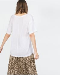 Zara | White Basic T-shirt | Lyst