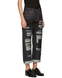 Junya Watanabe - Blue Indigo Patched Jeans - Lyst