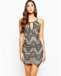Love Triangle - White Plunge Front Lace Dress - Lyst