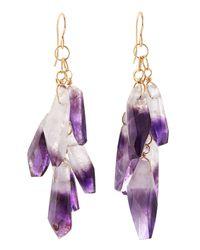 Devon Leigh - Purple Amethyst Spike Cluster Earrings - Lyst