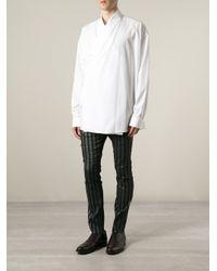 Haider Ackermann - Black Striped Trousers for Men - Lyst