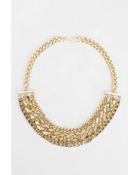 Urban Outfitters | Metallic Chunky Mixed Chain Necklace | Lyst