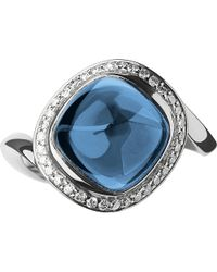 Links of London | Metallic Infinite Love Blue Topaz 18ct White Gold Ring - For Women | Lyst