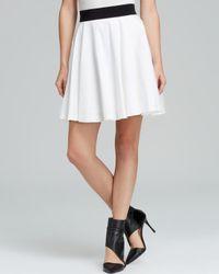 MILLY | White Skirt Mini Flare | Lyst