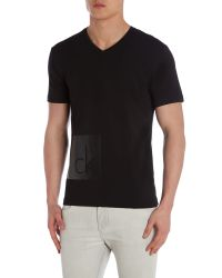 Calvin Klein | Black Terpol Printed Short Sleeve T-shirt for Men | Lyst