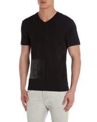 Calvin Klein   Black Terpol Printed Short Sleeve T-shirt for Men   Lyst