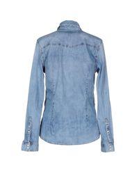 Pepe Jeans - Blue Denim Shirt - Lyst