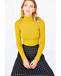 Silence + Noise - Yellow Cassie Turtleneck Sweater - Lyst