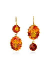 Renee Lewis | Orange 18K Yellow Gold Citrine Earrings | Lyst