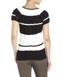 Joseph A | Black . Color Block Ribbed Top | Lyst