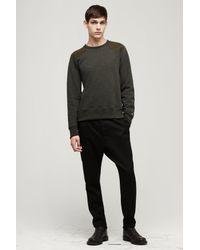 Rag & Bone - Green Tweed Combat Sweatshirt for Men - Lyst