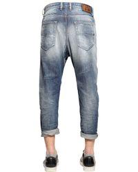 DIESEL - Blue 17cm Narrot Destroyed Denim Jeans for Men - Lyst