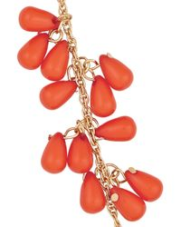 Kenneth Jay Lane - Red Gold-Tone Bead Necklace - Lyst
