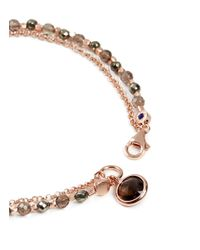 Astley Clarke - Brown Prosperity Friendship Bracelet With Pyrite & Smoky Quartz - Lyst